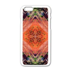 Boho Bohemian Hippie Floral Abstract Faded  Apple iPhone 6/6S White Enamel Case