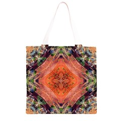 Boho Bohemian Hippie Floral Abstract Faded  Grocery Light Tote Bag
