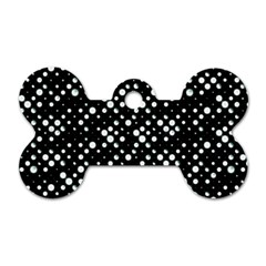 Galaxy Dots Dog Tag Bone (Two Sides)