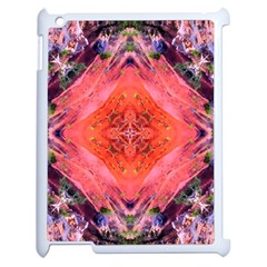 Boho Bohemian Hippie Retro Tie Dye Summer Flower Garden design Apple iPad 2 Case (White)