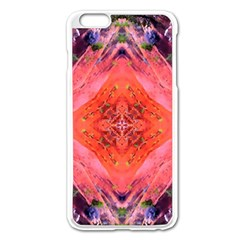 Boho Bohemian Hippie Retro Tie Dye Summer Flower Garden design Apple iPhone 6 Plus/6S Plus Enamel White Case