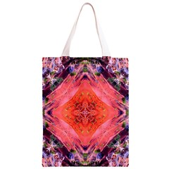 Boho Bohemian Hippie Retro Tie Dye Summer Flower Garden design Classic Light Tote Bag