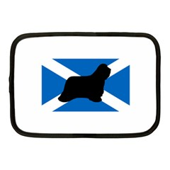 Bearded Collie Silhouette Scotland Flag Netbook Case (Medium)