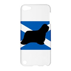 Bearded Collie Silhouette Scotland Flag Apple iPod Touch 5 Hardshell Case