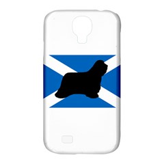 Bearded Collie Silhouette Scotland Flag Samsung Galaxy S4 Classic Hardshell Case (PC+Silicone)