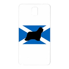 Bearded Collie Silhouette Scotland Flag Samsung Galaxy Note 3 N9005 Hardshell Back Case