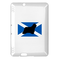Bearded Collie Silhouette Scotland Flag Kindle Fire HDX Hardshell Case