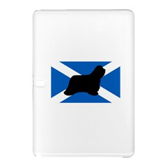 Bearded Collie Silhouette Scotland Flag Samsung Galaxy Tab Pro 10.1 Hardshell Case