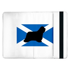 Bearded Collie Silhouette Scotland Flag Samsung Galaxy Tab Pro 12.2  Flip Case