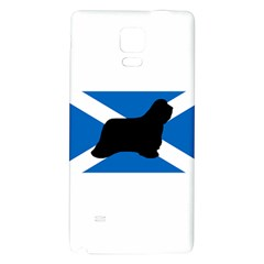 Bearded Collie Silhouette Scotland Flag Galaxy Note 4 Back Case