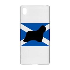 Bearded Collie Silhouette Scotland Flag Sony Xperia Z3+