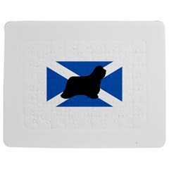 Bearded Collie Silhouette Scotland Flag Jigsaw Puzzle Photo Stand (Rectangular)