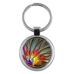 Fractal Bird of Paradise Key Chain (Round)