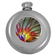 Fractal Bird of Paradise Hip Flask (5 oz)