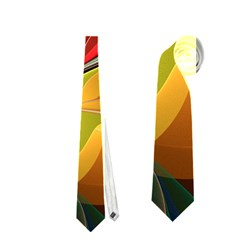 Fractal Bird of Paradise Necktie (Two Side)