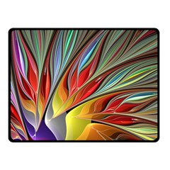 Fractal Bird of Paradise Fleece Blanket (Small)