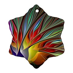 Fractal Bird of Paradise Snowflake Ornament (Two Sides)