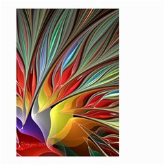 Fractal Bird of Paradise Small Garden Flag (Two Sides)