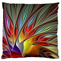 Fractal Bird of Paradise Standard Flano Cushion Case (One Side)