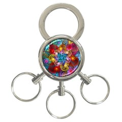 Spirals And Curlicues 3-Ring Key Chains