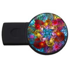 Spirals And Curlicues Usb Flash Drive Round (2 Gb)