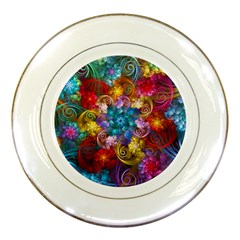 Spirals And Curlicues Porcelain Plates