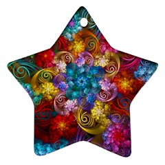 Spirals And Curlicues Star Ornament (Two Sides)