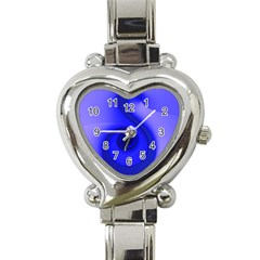 Blue Spiral Note Heart Italian Charm Watch