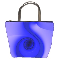 Blue Spiral Note Bucket Bags