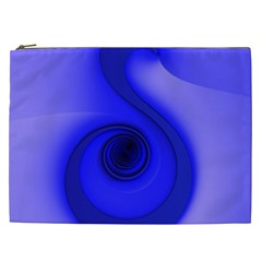 Blue Spiral Note Cosmetic Bag (xxl)