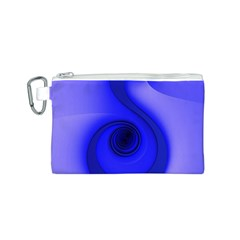 Blue Spiral Note Canvas Cosmetic Bag (S)