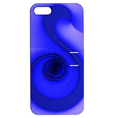 Blue Spiral Note Apple iPhone 5 Hardshell Case with Stand