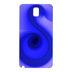 Blue Spiral Note Samsung Galaxy Note 3 N9005 Hardshell Back Case