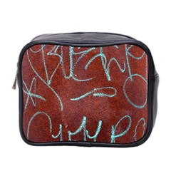 Urban Graffiti Rust Grunge Texture Background Mini Toiletries Bag 2-Side