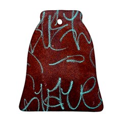 Urban Graffiti Rust Grunge Texture Background Bell Ornament (2 Sides)