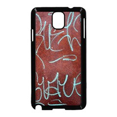 Urban Graffiti Rust Grunge Texture Background Samsung Galaxy Note 3 Neo Hardshell Case (Black)