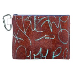 Urban Graffiti Rust Grunge Texture Background Canvas Cosmetic Bag (xxl)