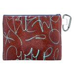 Urban Graffiti Rust Grunge Texture Background Canvas Cosmetic Bag (XXL)  Back