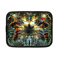 Metallic Abstract Flower Copper Patina Netbook Case (Small)
