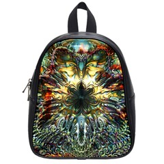 Metallic Abstract Flower Copper Patina School Bags (Small)