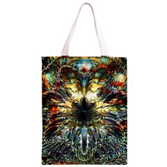 Metallic Abstract Flower Copper Patina Classic Light Tote Bag