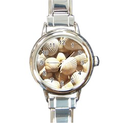 Tropical Exotic Sea Shells Round Italian Charm Watch