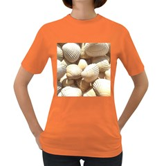 Tropical Exotic Sea Shells Women s Dark T-Shirt