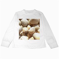 Tropical Exotic Sea Shells Kids Long Sleeve T-Shirts