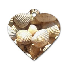 Tropical Exotic Sea Shells Dog Tag Heart (One Side)