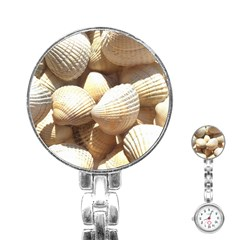 Tropical Exotic Sea Shells Stainless Steel Nurses Watch