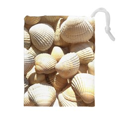 Tropical Exotic Sea Shells Drawstring Pouches (extra Large)