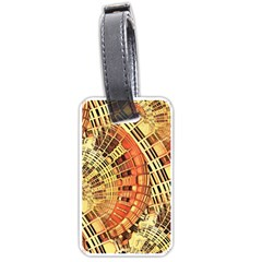 Semi Circles Abstract Geometric Modern Art orange Luggage Tags (One Side)