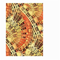 Semi Circles Abstract Geometric Modern Art orange Large Garden Flag (Two Sides)