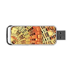 Semi Circles Abstract Geometric Modern Art orange Portable USB Flash (One Side)